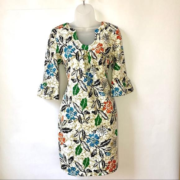 Anthro Aryeh Print 3/4 Sleeve Dress